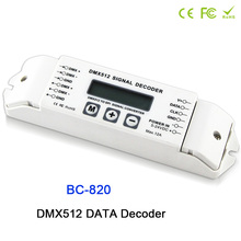 цена на BC-820 DMX to SPI Signal Decoder convertor DMX512 Controller for LPD6803 8806 WS2811/ 2801 WS2812B 9813 led pixel light DC5V-24V