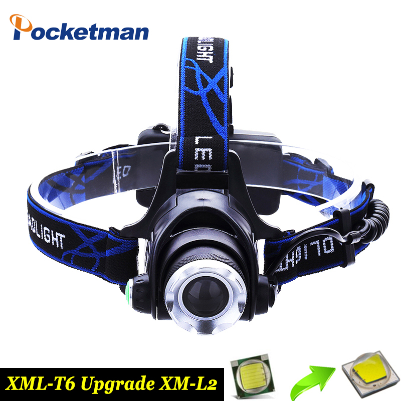 8000LM XML-L2 T6 Led Headlamp Zoomable Headlight Waterproof Head Torch flashlight Head lamp Fishing Hunting Light use 18650 стоимость