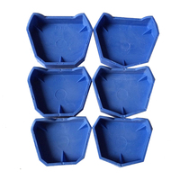 Free Shipping NEW Dental Lab Plaster Model Former Base Molds Set Blue 6 Pcs Set