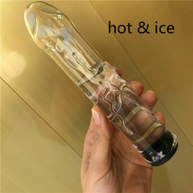 Hollow Glass Dildo Add Hot Ice Water Pyrex Anal Plug Butt Plug Fake Penis Anus Massage Wand Adult Sex Toys For Couples Gay Women