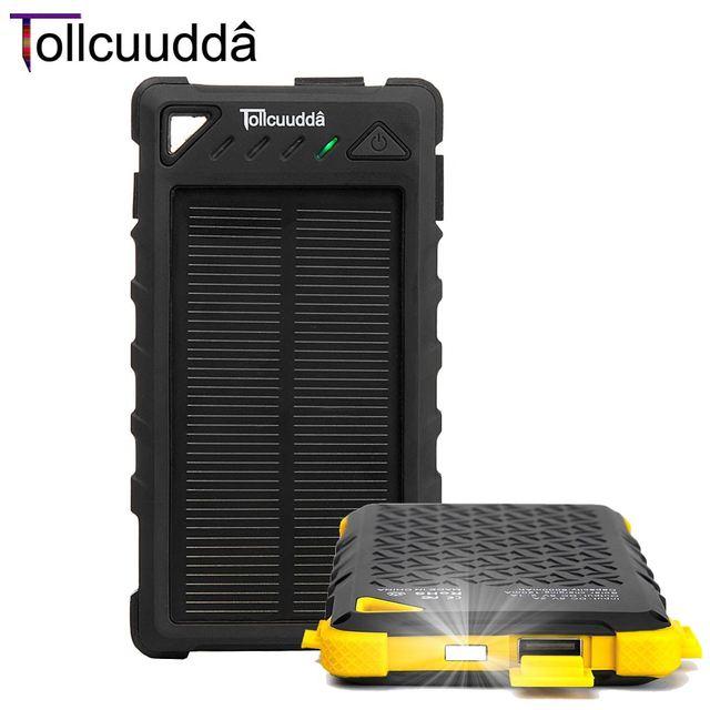 Tollcuudda Carregador Banco de Energia Solar China Usb Carregador de Bateria Externa Para O Telefone Móvel Bateria Externa À Prova D' Água Pover Banco