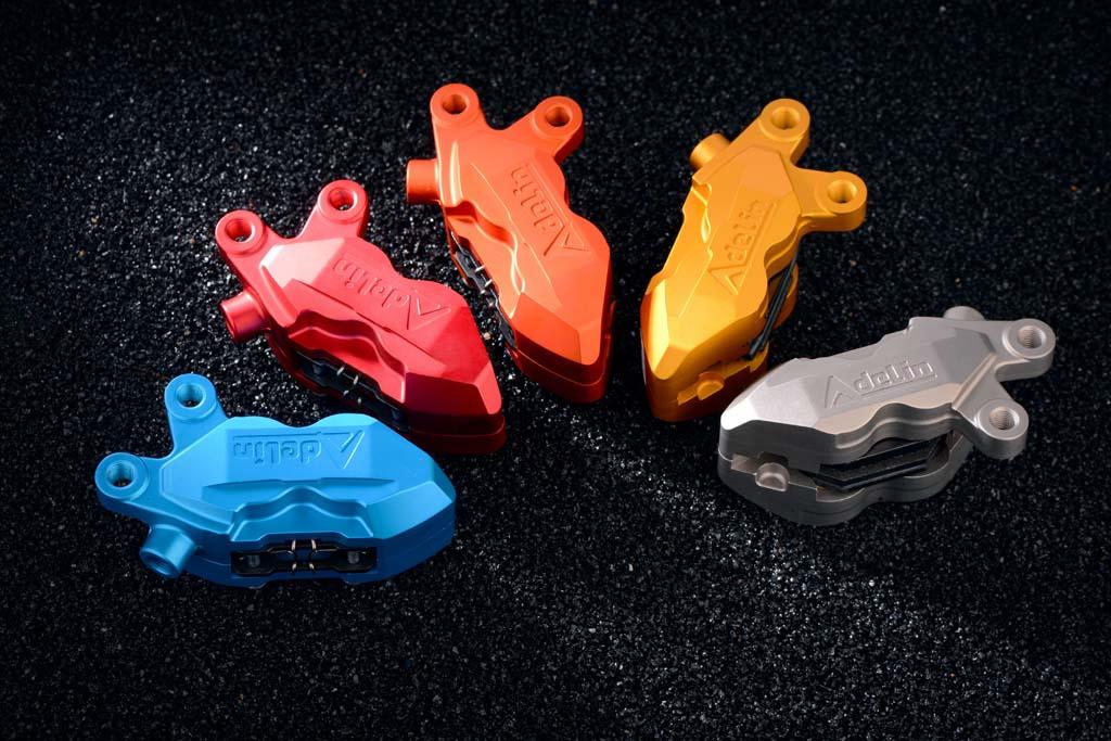 Original Adelin Brake Caliper Adl-5r 4 Piston Brake Pump Cnc Forged Aluminum For Yamaha Scooter Force Jog Rsz Honda Modify motorcycle modify hf6 cnc 4 piston brake pump caliper for honda nc 700s 700x nc 750s 750x ktm duke 125 200 390