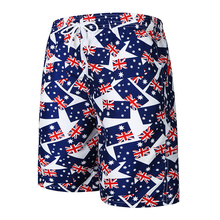 UNRESTRAINED 2018 Mens Summer Beachwear Quick Dry Lightweight Vacation Australia Flag