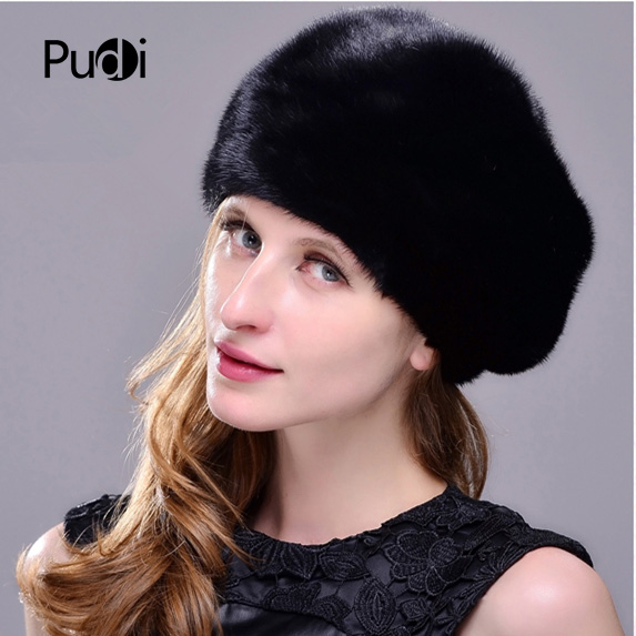 Меховая шапка из натуральной норки женская зимняя норковая шапка рыцарская шапка Термальная женская шапка - 4