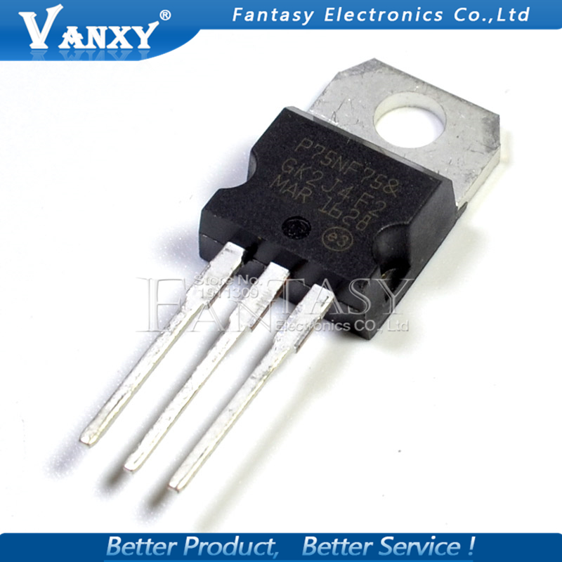 10PCS STP75NF75 TO-220 P75NF75 TO220 75NF75 New MOS FET Transistor