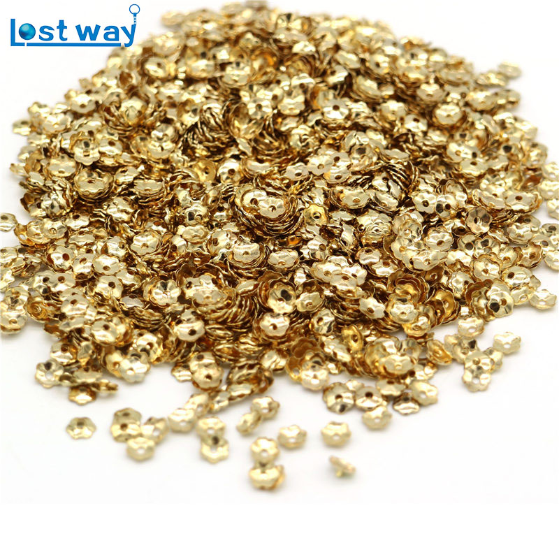 Wholesale Approx 1000Pcs Flowers Filigree Bead Caps Findings Jewelry Findings Making End Caps Zinc Alloy (Lead And Nickel Free)