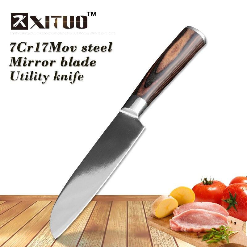 XITUO Très Forte Couteaux 5 pouce Filetage Cuisine Viande couteau 7Cr17Mov Saumon couteau à poisson Japonais Santoku Couteaux