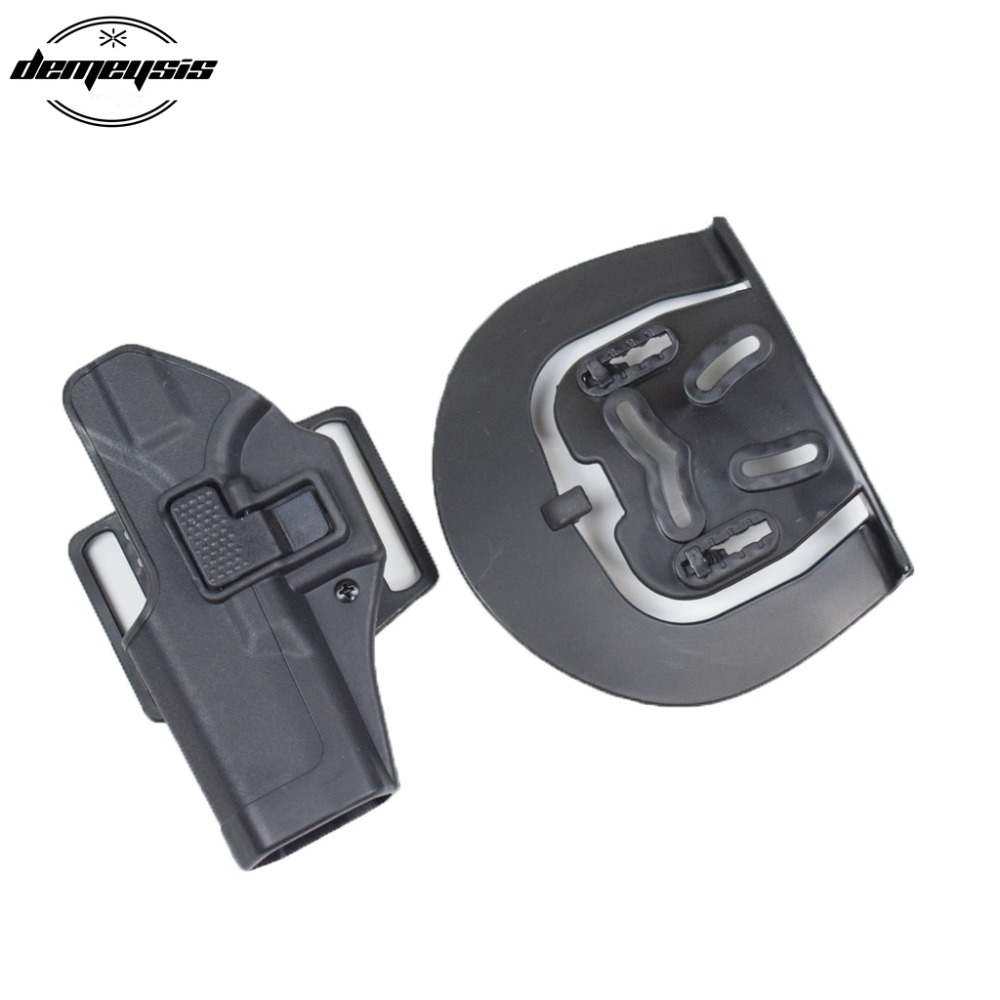 Quick Draw Right Handed Waist Paddle Pistol Holster For