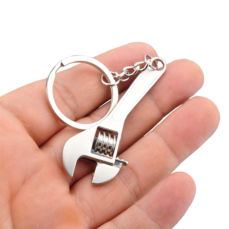 Hot Sale Mini Metal Adjustable Tool Wrench Spanner Key Chain Ring Key Ring Gift Free Shipping