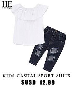 summer-children-clothing-kids-casual-sport-suits-2018-White-word-shoulder-shirt-broken-hole-pants-suit
