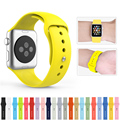 2016 nova faixa de relógio do silicone com conector adaptador para apple watch band 42mm/38mm esportes cinta para iwatch pulseira fivela
