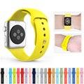 2016 nueva banda de reloj de silicona con conector adaptador para apple watch band 42mm/38mm correa para iwatch deportes hebilla de pulsera