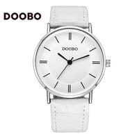 Fashion Watch Women DOOBO Brand Casual Sport Leather Strap Classic Business 50m Quartz Wrist Watches Men