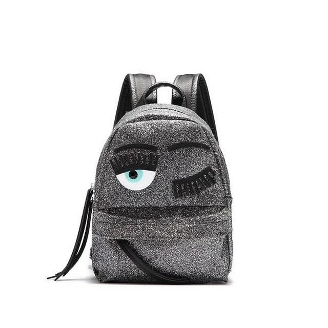e1d8f72304 Women Sequin Backpack Glitter Sequined Brand Design Backpacks Glitter Blink  Eyes Girls School bags Leather Double