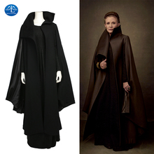 Manluyunxiao Leia Organa Cosplay Star Wars The Last Jedi Princess Outfit Black Dress Halloween Costumes For Women Custom Made