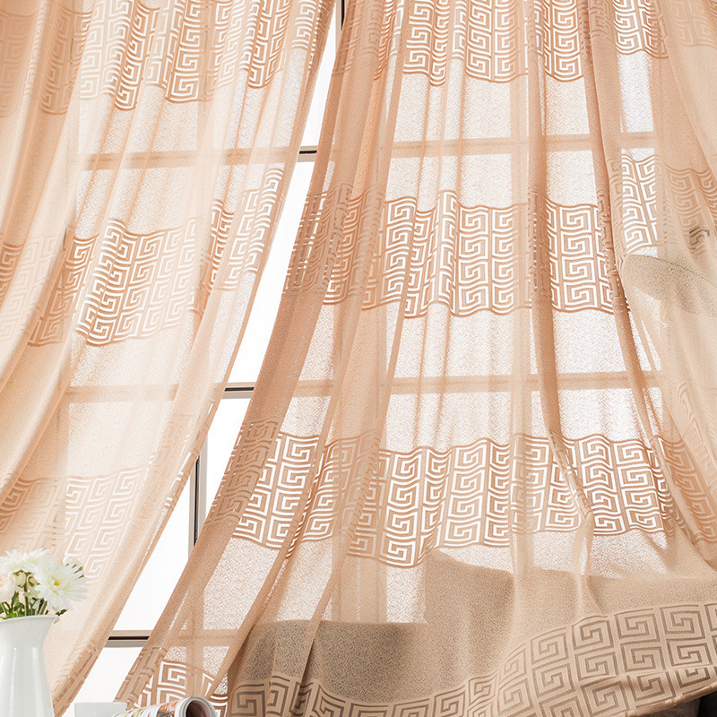 Cheap Price Jacquard Sheer Curtains Living Room Bedroom ...