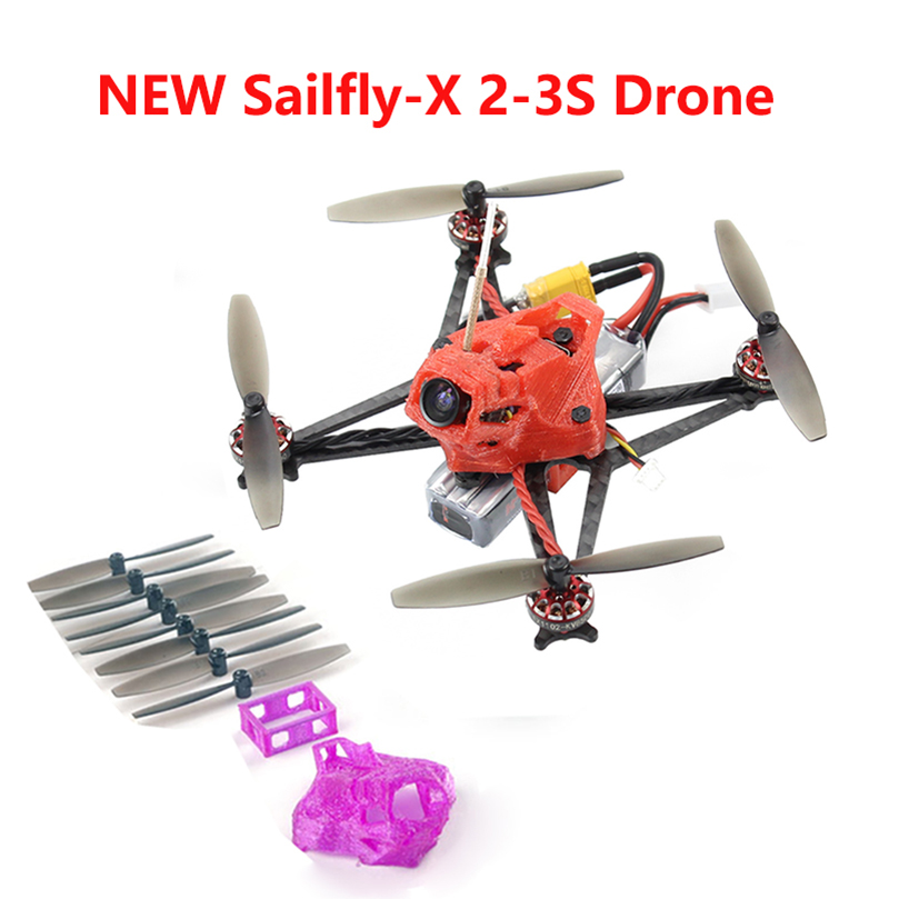 Happymodel Sailfly X 105 مللي متر Crazybee F4 برو V2.1 AIO وحدة تحكم في الطيران 2 3S مايكرو FPV سباق Drone BNF 25mW VTX 700TVL كاميرا-في قطع غيار وملحقات من الألعاب والهوايات على  مجموعة 1