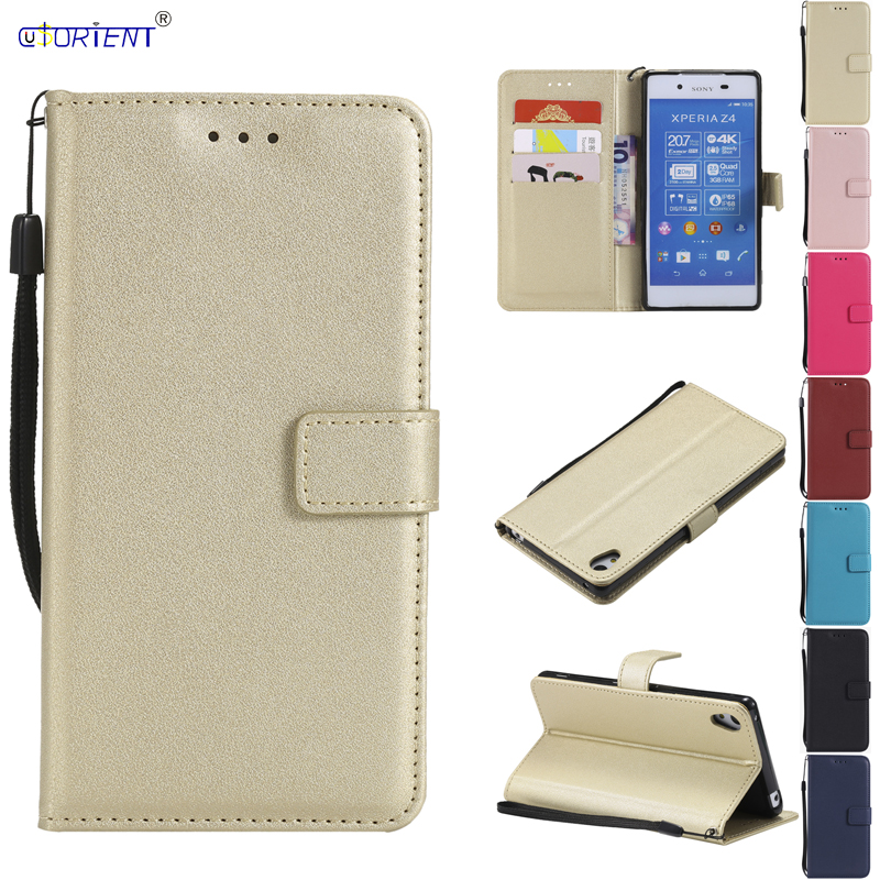 <font><b>Flip</b></font> Cover for <font><b>Sony</b></font> Xperia <font><b>Z4</b></font> Z 4 LTE Dual E6553 E6533 402SO SOV31 Phone Leather <font><b>Case</b></font> for <font><b>Sony</b></font> Z3 Plus Z3Plus E 6553 6533 Funda image