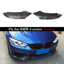 Car Styling Carbon Fiber Auto Front Lip Splitter Flaps for BMW 4 Series F32 F33 F36 M Sport Coupe Convertible 2-Door 2014-2018 электромобили hebei bmw 2 series coupe