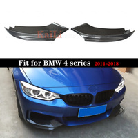 Car Styling Carbon Fiber Auto Front Lip Splitter Flaps for BMW 4 Series F32 F33 F36 M Sport Coupe Convertible 2 Door 2014 2018