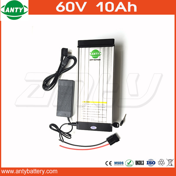 1000w 60v 10Ah eBike Battery use 18650 Cell Lithium Battery 60v with 30A BMS 2A Charger Electric Bike Battery 60v Free Shipping free customs taxes super power 1000w 48v li ion battery pack with 30a bms 48v 15ah lithium battery pack for panasonic cell