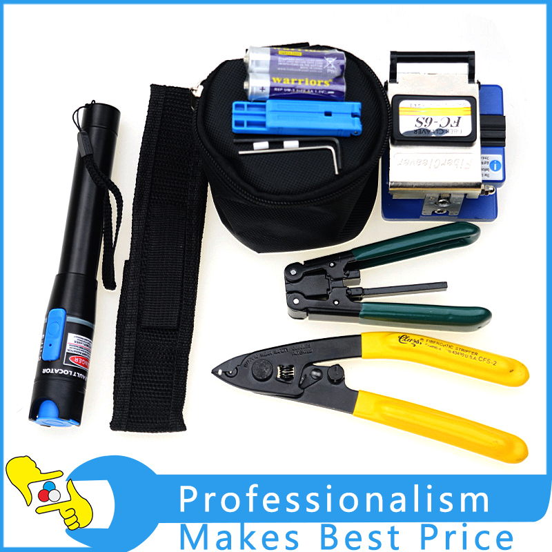 Hot sale 11 In 1 FTTH Fiber Optic Tool Kit with FC-6S Fiber Optic Cleaver,CFS-2 fiber stripper,YW-8FS Cable Stripper 2 in 1 fiber optic multi purpose professional high grade diagnostic medical ent portable otoscope ophthalmoscope replace head