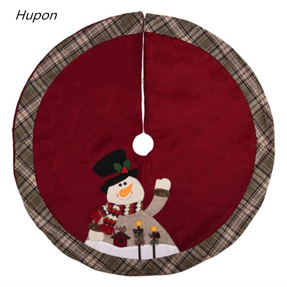 Us 17 74 22 Off Santa Snowman Christmas Tree Decorations 105cm Xmas Skirt Merry Carpet For Home New Year Party Supplies Gift In
