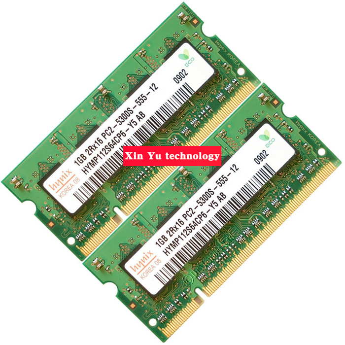 Lifetime warranty For hynix DDR2 1GB 2GB 667MHz PC2-5300S Original authentic DDR 2 1G notebook memory Laptop RAM 200PIN SODIMM