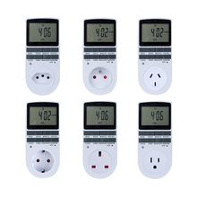 Minuterie numérique électronique, 24 h, cyclique, pour la cuisine, 220V, pour prise, ue UK AU US FR BR