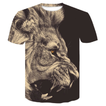 2019 Newest Lion 3D Print Animal Cool Funny T-Shirt Men Short Sleeve Summer Tops T Shirt Tshirt Male Fashion T-shirt M-4XL