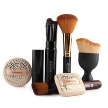 цена на 6pcs/set Cosmetic Set Professional Makeup Kit Eye Lip Brush Set Foundation Brush Power Puff Sponge Makeup Brushes Set Tool