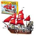 QWZ 1123 шт. Пираты Корабль Черная Борода 3D Строительство Собраны Кирпич Детей Развивающие Игрушки Для Детей Подарок Building Block Набор