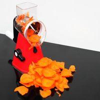 SDFC-Multi-function food Slicer ручной Speedy Safe Овощной измельчитель резак с 3 цилиндрическими лезвиями из нержавеющей стали f