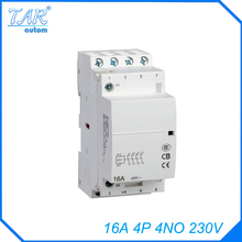 4P 4NO 230V 16A Modular Normally Closed Contactor with electric machincal types of contactor  Din rail Household ac contactor 4p 115a magnetic ac contactor 4no lc1 f115004 power contactor page 6
