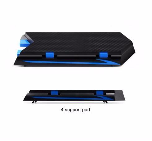 Vertical Stand &Cooling Fan,Game Holder Dual Charging Station w/ USB HUB DiscStorage Manager for PS4 Playstation 4 +16pcs caps