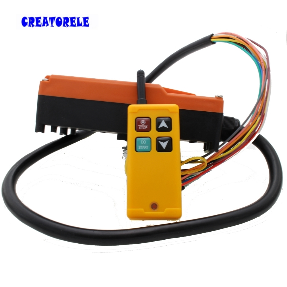 Industrial Wireless Radio remote controller Switch for crane 1 receiver 1 transmitter AC220V 110V 380V 36V