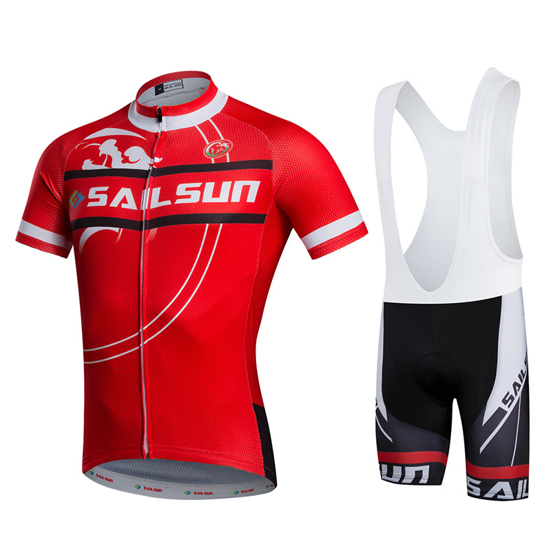 HOT SAIL SUN Red Men bike Jersey or Cycling Bib Shorts Pro MTB  Clothing Summer Male team ropa  Bicycle Top wear Breathable topeak outdoor sports cycling photochromic sun glasses bicycle sunglasses mtb nxt lenses glasses eyewear goggles 3 colors