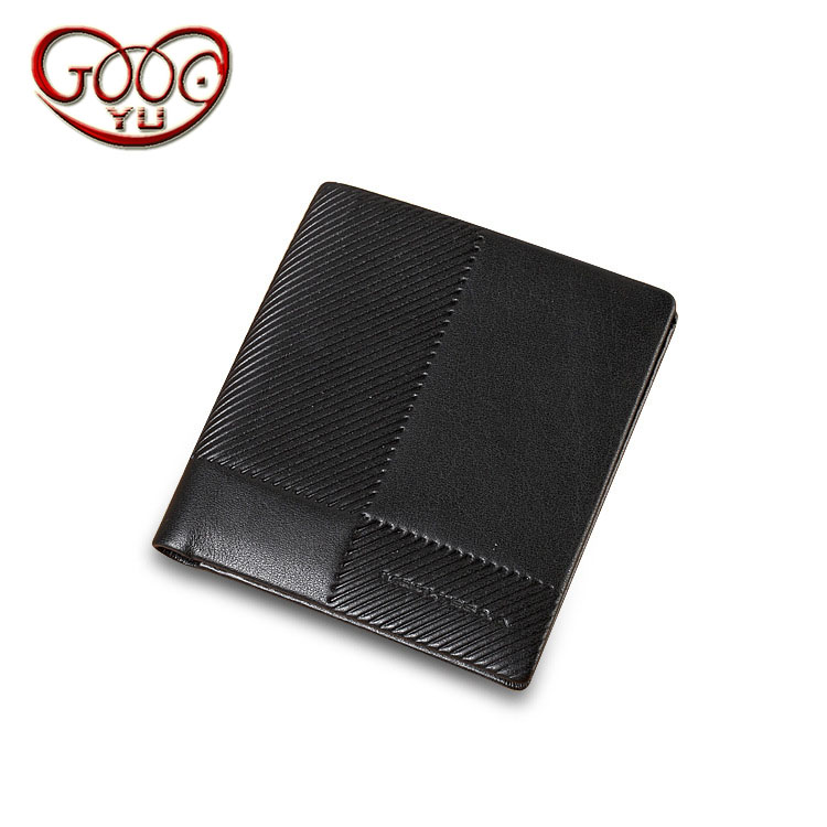 Mens business wallet Short paragraph Doka bit purse leather vertical section leather wallet