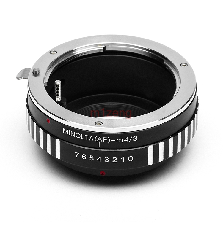 MINOLTA (AF) lens a Micro M 4/3 M43 anello Adattatore per G1 GH1 GF1 GF3 GX8 G7 GF7 GH4 GM1 GX7 GF6 EM5 EM1 EM10 macchina fotografica