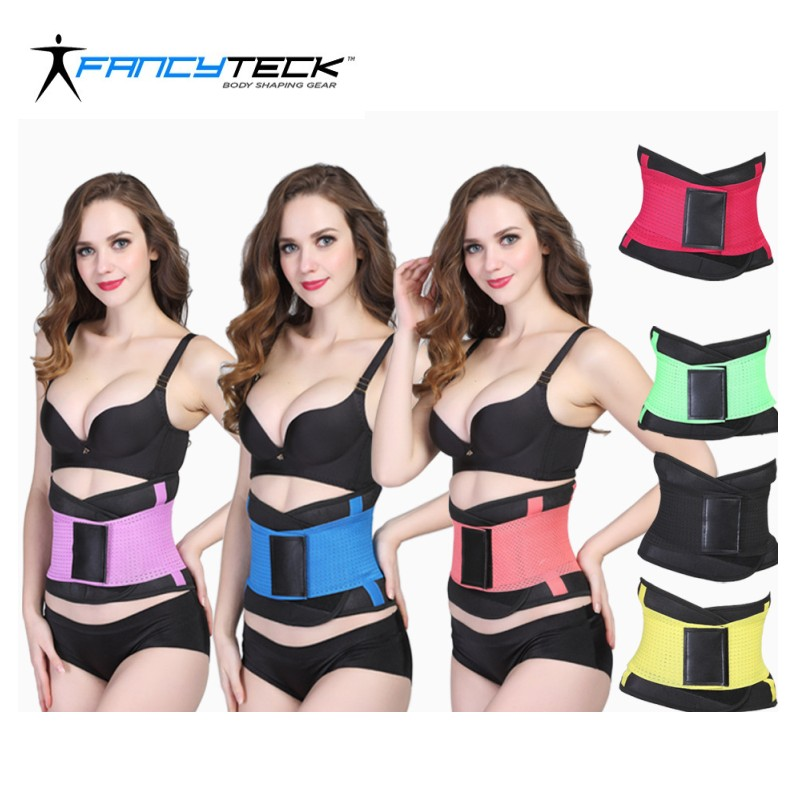 S to 2XL Neoprene Latex Women Body shaper 10 Colors Slimming corset belt Waist trainer shapewear belly belt