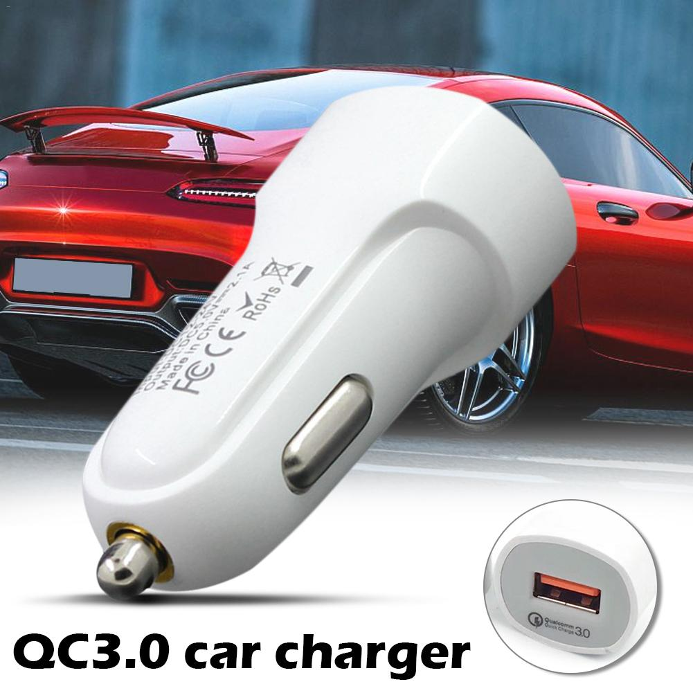 Car Charger Quick Charge 3.0 One USB Car-Charger for Mobile Phone Qualcomm QC 3.0 Fast Car Charging USB Charger Adapter