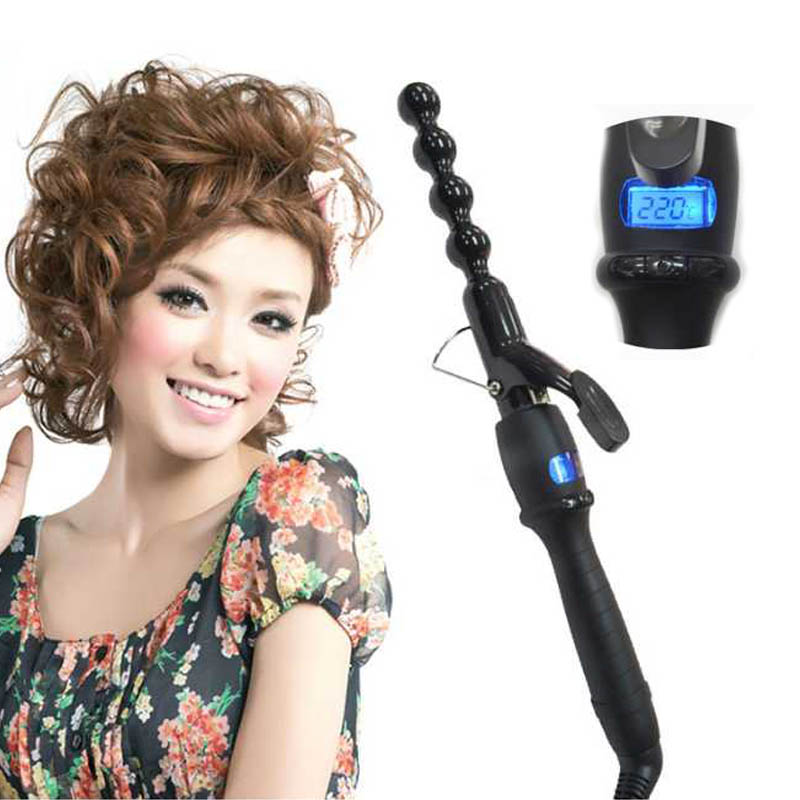 professional Hair Curler Curling Irons Heating Hair Styling Tool women Personal curly Hair Curling Iron curler hair machine 15 25mm ceramic bead hair curler roller 110 240v 60w hair curling irons professional ptc heating curl hair style tool with glove