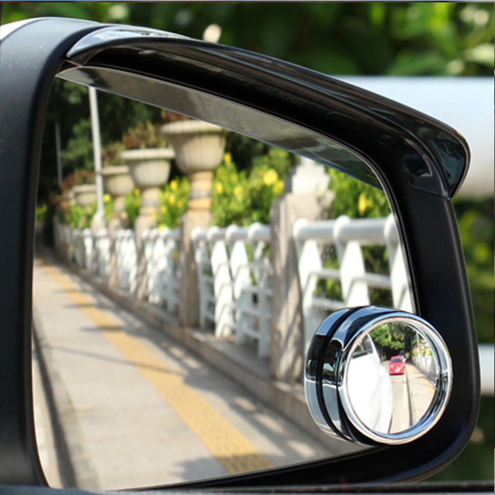 1 Pair Adjustable Endless Circular Blind Spot Mirror Reversing Wide-angle Lens Car Rearview Mirror Security Auxiliary Lens