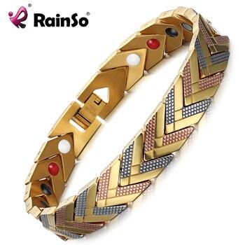 RainSo Magnetic Bracelets Bangle for Women Health Care Bio Energy Germanium Healing Female Jewelry