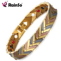 RainSo Magnetic Hologram Bracelets Bangle For Women 4 In 1 Health Care Bio Energy Germanium Healing