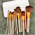 12 unidades todo tipo pinceles de maquillaje Superior profesional Soft desnuda cosmética de maquillaje cepillo conjunto mujer de herramientas Kit de baño maquillaje