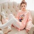 XXL Plus Size Rosa Mulheres Pijamas Para As Mulheres Menina Pijama Entero Pijama Femme Pijama Feminino Pigiami Pyama Mulher Pijama Femme
