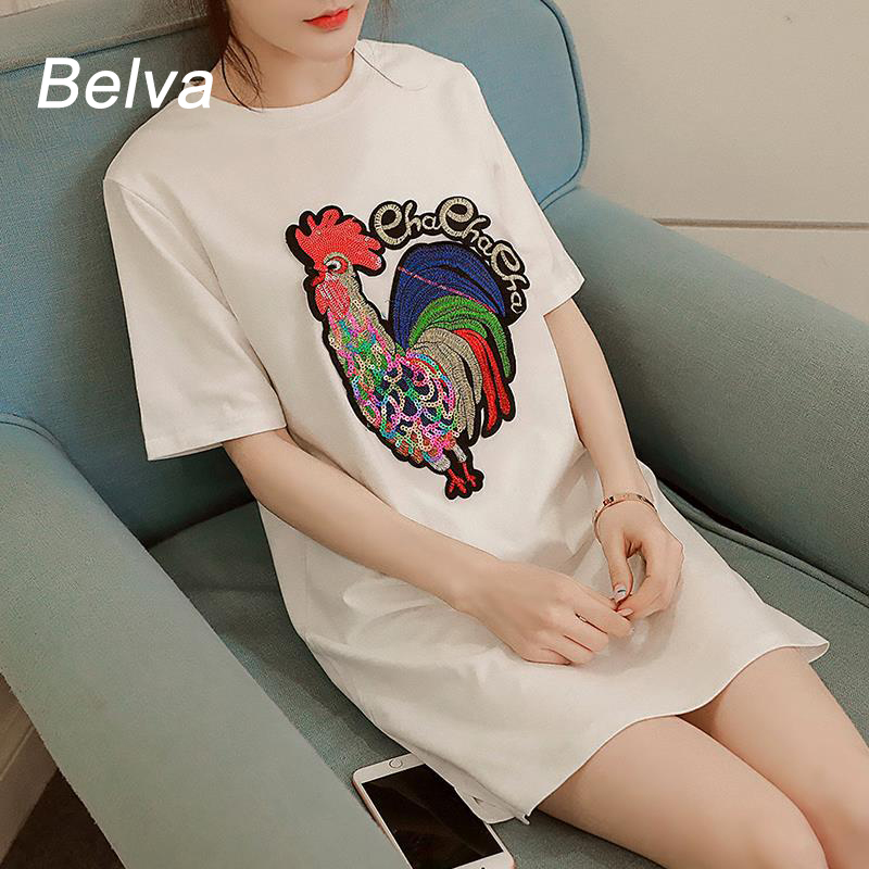 Belva Casual summer Cock Pattern Chinese style Tops shor Sleeve T-shirt for Pregnant Woman Maternity Function 637