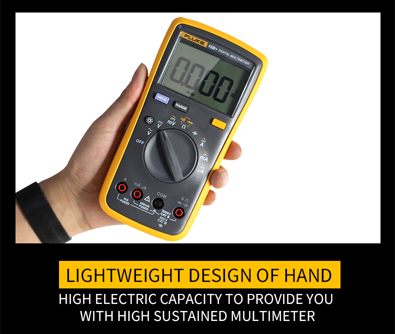 Fluke Digital Multimeter with Auto Range and 4000 Counts for AC DC Voltage and Current 11