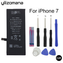 YILIZOMANA Replacement Phone Battery for Apple iPhone 7 7G Real Capacity 1960mAh High Quality Batteries With Repair Tools